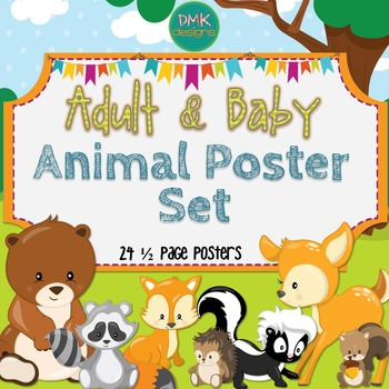 Adult & Baby Animal Posters