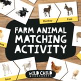 Adult & Child Farmyard Animal Matching Activity, Farm Anim