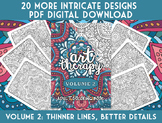 Coloring Book - Art Therapy Volume 2 - Printable PDF