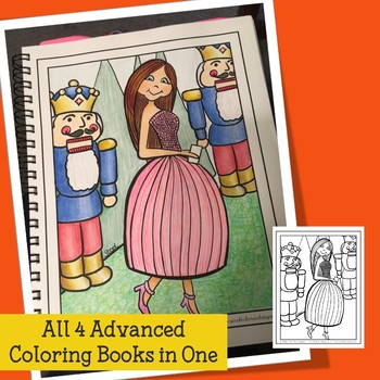 Adult Coloring Book Christmas Coloring for Teens, Teachers and Big Kids
