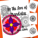 Adult Coloring Book Heart Mandalas for Teens, Teachers and