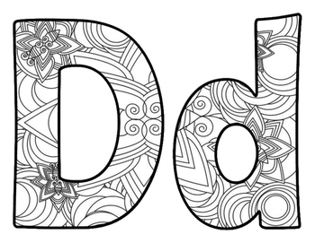 Adult Coloring Book Inspired BB Letters