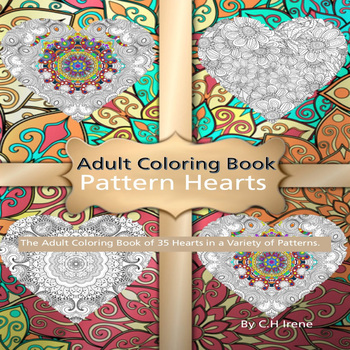 Adult Coloring Book Pattern Hearts