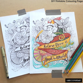 Adult Coloring Book Printable Coloring page, Inspirational
