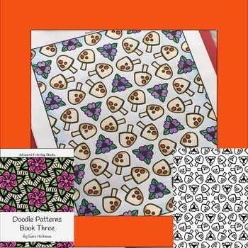 Adult Coloring Book Teens, Teachers and Big Kids by Sara Hickman Designs