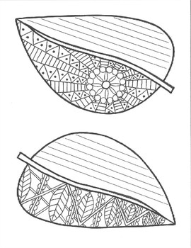 Adult Coloring Leaves and Writing