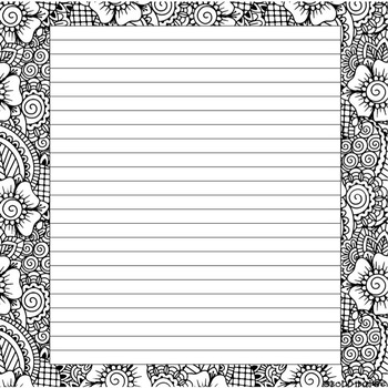 Coloring Note Page Freebie