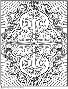 Adult Coloring Page Mandala 2