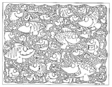 Adult Coloring Page Something Fishy