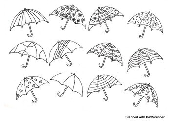 Umbrella Coloring Pages | Windows color, Parapluie, Art plastique | 247x350