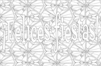 Adult Coloring Pages Holiday Christmas New Year Spanish By Sam