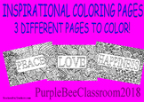 Adult Coloring Pages-Peace, Love, Happiness-Inspirational Coloring Pages