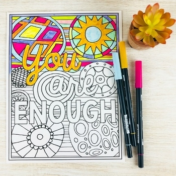 Adult Coloring Pages for Teachers | Inspirational