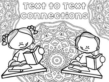Adult Coloring Reading Strategies:  Set of 15 Pages