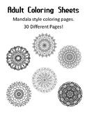 Adult Coloring Sheets Mandela Coloring Pages Printable Mandala Coloring Pages