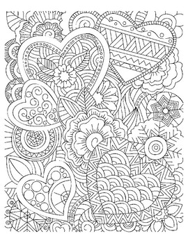 Adult Coloring Sheets Valentines Day Coloring Sheets Adult