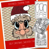 Adult Coloring an Ugly Christmas Sweater Party for Teens,