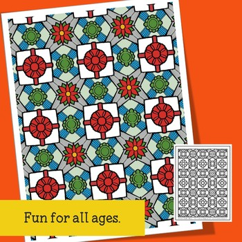 Adult Coloring for Christmas, Doodle Patterns for Teens, Teachers and Big Kids