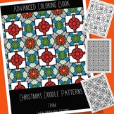 Adult Coloring for Christmas, Doodle Patterns for Teens, T