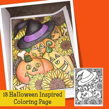 Adult Coloring for Halloween for Teens and Teachers