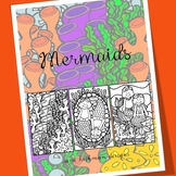 Adult Coloring with Mermaids for Big Kids, Teens and Teachers