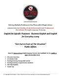 Adult ESL-  Lesson Plan, Student Handout, and Answer Key (Public Affairs)