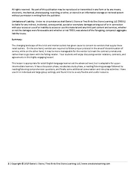 Adult ESL-  Teacher Plan, Student Handout, and Answer Key (Contract & Agreement)
