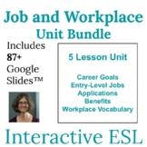 Adult ESL Vocabulary | Job and Workplace Unit | Bundled Digital