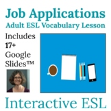 Adult ESL Vocabulary | Jobs | Filling Out an Application | Digital