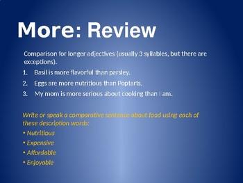Food Talk: Comparison in English
