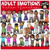 Adult Emotions Clip Art Set {Educlips Clipart}