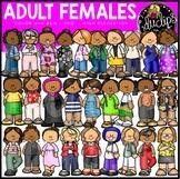Adult Females Clip Art Set {Educlips Clipart}