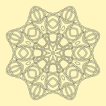 Adult Level Color In Detailed Coloring Celtic Mandalas Clip Art Commercial Use