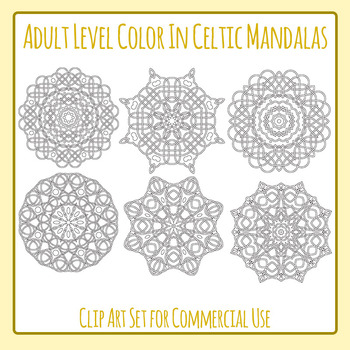 Adult Level Color In Detailed Coloring Celtic Mandalas Cli