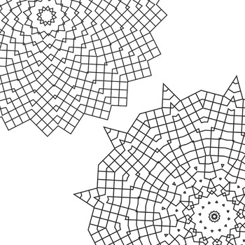 Adult Level Color In Detailed Coloring Mandalas 5 Clip Art for Commercial Use
