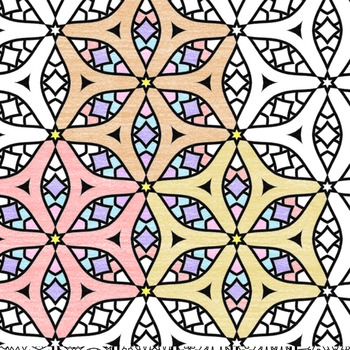 Adult Level Color In Detailed Coloring Patterns 2 / Digital Papers Clip Art