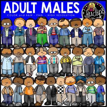 Adult Males Clip Art Set {Educlips Clipart}