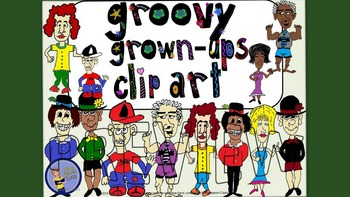Adult People Clip Art – Groovy Grown-ups Set 1
