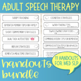 Adult Speech Therapy Handouts Bundle