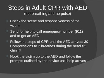 Adult CPR with AED: American Heart Association Standards