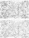 Adult coloring motivational Thanksgiving half sheet activity