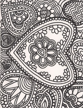 Coloring Pages Hearts Teaching Resources Teachers Pay Teachers