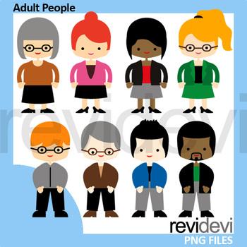 Adult people clip art / teachers clipart