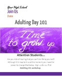Adulting Day Editable Flyer
