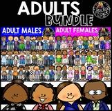 Adults Clip Art Bundle {Educlips Clipart}