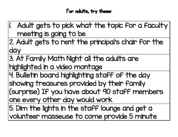 Adults/Staff Reward Strips - Incentives