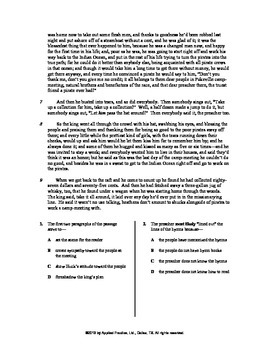 Adv of Huckleberry Finn Ch 20 English skills worksheet by Applied Practice