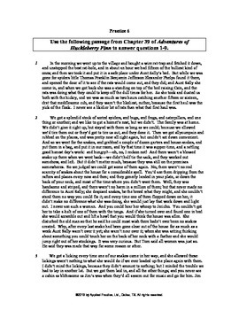 Adv of Huckleberry Finn Ch 39 English skills worksheet by Applied Practice