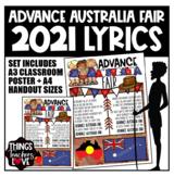 Advance Australia Fair - Full Lyrics, A4 size