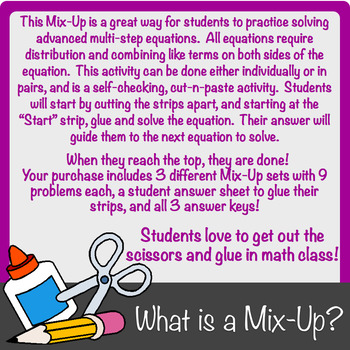 Advanced Multi-Step Equations Mix-Up!